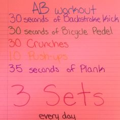 Swim team guaranteed ab workout