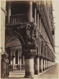 Carlo Ponti, Italian, ca. 1828–1900: (Left)Doge's Palace, Venice, ca. 1865. Albumen print