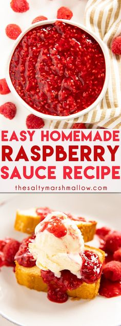 Raspberry Sauce - The Salty Marshmallow