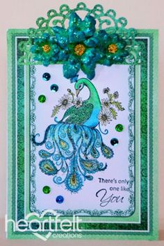 Heartfelt Creations | Blue And Green Peacock