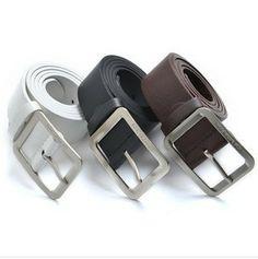 Free Shipping 2013 new men's casual PU leather belt, logo belts, brand belts, three-color wide belts, jeans decorative belts
