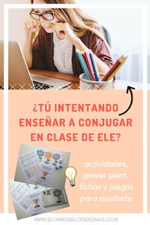 Easy resources to teach conjugation in Spanish. Ideal for initial levels. Ideas and activities for your Spanish Lessons MFL GCSE SPANISH Spanish Grammar, Spanish 1, Spanish Teacher, Spanish Class, Teaching Spanish, Spanish Lesson Plans, Spanish Lessons, Middle School Spanish, Grammar Activities