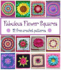 Fabulous Flower Squares! 12 Free #Crochet Patterns... via @fiberflux