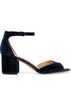 Sam Edelman | Susie velvet sandals | NET-A-PORTER.COM