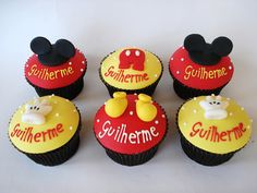 Mickey Mouse Cupcakes by Isa Herzog, via Flickr
