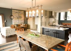 Eclectic Diamond Heights Home — Multi-room Angle - eclectic - dining room - san francisco - LOCZIdesign
