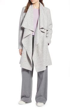 0dd3a4b0c Halogen® Boiled Wool Blend Drape Front Coat