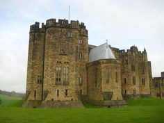 Alnwick Castle (where they filmed Harry Potter).