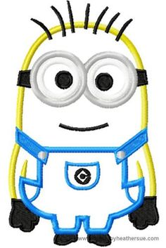 Photo Of Despicable Me Minion 2 Eyes Machine Embroidery