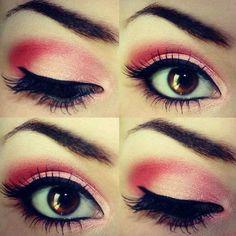 Pink make up beauty