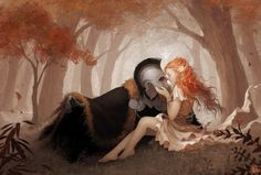 12,18 inch Persephone and Hades by JanainaArt