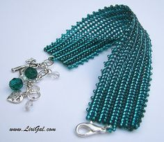 Hey, I found this really awesome Etsy listing at http://www.etsy.com/listing/63892892/emerald-green-herringbone-bracelet