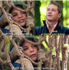 And thus prince charming was born. Episode 3, Prince Charming, Ouat, Once Upon A Time, Favorite Tv Shows, Don't Care, Drama, Snow Falls, Funny
