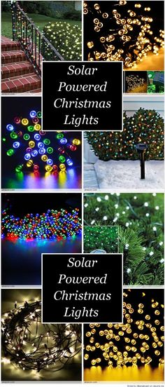 Solar Powered Christmas Lights Solar powered christmas lights - solar christmas decorations