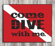 Diver Down Scuba Diving Wood Sign by ZietlowsCustomSigns on Etsy, $28.00