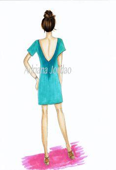 Carolina - fashion illustration by AdrianaJordao on Etsy