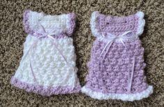Crochet Angel Dress variations