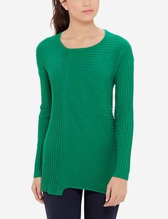Asymmetrical Ribbed Sweater
