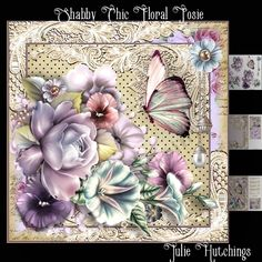 Beautiful card front kit with 3 sheets to print cut and assemble to make a stunning card that includes card front 8x8, decoupage and insert also includes a cut and fold gift card and topper