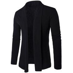 $12.43 Slim Shawl Collar Long Cardigan