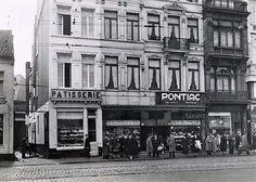 Zicht op Carnotstraat met rechts slagerij Convents-1960-1969.
