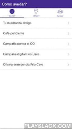 Frio Cero  Android App - playslack.com , Tene a mano una herramienta para combatir el sufrimiento de las personas que duermen en las calles. Baja la aplicación de #FrioCero y sumate a esta campaña solidaria que crece gracias al apoyo de todos. No mata el frío, mata la indiferencia. Web: www.friocero.org