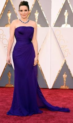 Tina Fey in Versace. Upping the tally for purple gowns.