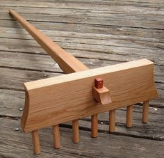 Full Size Japanese Zen Rock Garden Rake Handcrafted in White Oak. Samon Yo Kumade for Karesansui. $195.00, via Etsy.