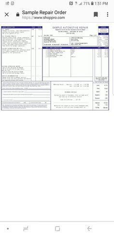 14 best photos of auto repair invoice template printable