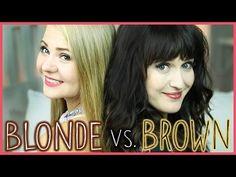 BLONDE vs. BROWN! 3 Frisuren - 2 Haartypen! - YouTube