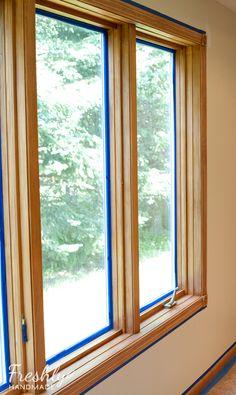 Freshly Handmade Tutorial A Beginner S Guide To Painting Wood Trim
