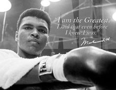 Muhammad Ali is one of the most inspirational figures in boxing, sports and the world today. His sayings and belief in himself helped others start believing in themselves. This motivational quote speaks for itself!
