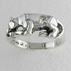 Moyer Jewelers: Penn State Rings - STERLING SILVER PENN STATE NITTANY LION STATUE RING. I shall get this for myself as a belated Christmas/early birthday present