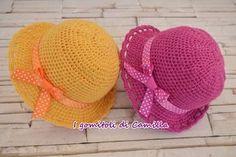 In questo tutorial vi spiego come realizzare un cappellino da bimba semplicissimo a uncinetto. Seguite le spiegazioni passo passo.