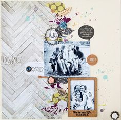 #papercraft #scrapbook #layout.   she makes stuff...