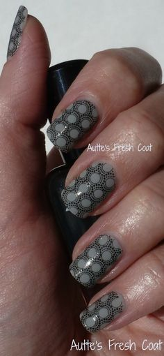 Zoya Dove with Zoya Raven for stamping