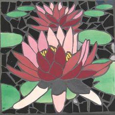 Lotus Pond Australian Native Wilflower mosaic mural in ceramic tiles by Brett Campbell Mosaics Mosaic Stepping Stones, Pebble Mosaic, Mosaic Art, Mosaic Glass, Stained Glass, Mosaic Birds, Mosaic Flowers, Mosaic Patterns, Mosaic Ideas