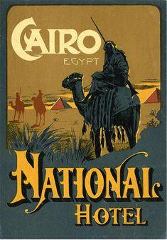 National Hotel luggage label Cairo Egypt Autor/a pineado: Brimstone Dreams ...... Álbum pineado: Travelling to Egypt ....... http://www.pinterest.com/brimstonedreams/travelling-to-egypt/?utm_campaign=recs_141229&utm_term=6&utm_content=196258564950584312&e_t=d6cb4851402e45048e24ca9ef13e533d&utm_source=31&e_t_s=boards&utm_medium=2004