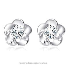 Sterling Silver Earrings,Hemlock Women Lady Rose Flower Earrings (White) Check It Out Now     $1.85    ➽NOTE:There is 2-3% difference according to manual measurement.Thanks for your understanding.     Package include:    ..  http://www.handmadeaccessories.top/2017/03/23/sterling-silver-earringshemlock-women-lady-rose-flower-earrings-white/