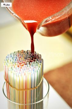 Put jello in straws to make WORMS!