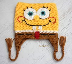 Repeat Crafter Me: Crochet Bob the Square Sponge Hat - Free pattern