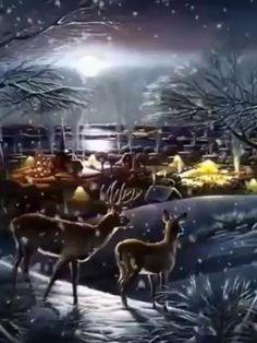 Animated Christmas Wallpaper, Animated Christmas Tree, Xmas Gif, Merry Christmas Gif, Christmas Scenery, Christmas Pictures, Cute Good Night, Good Night Gif, Good Night Sweet Dreams