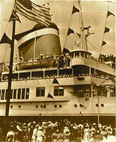 United States Lines AMERICA maiden voyage, 1940