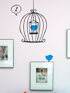 **DIY** {{Wall Decal}} ~Use clip art designs to make wall decals. They're movable, removable, changeable and awesome!