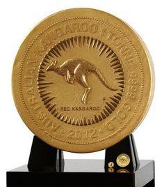 1 Tonne Gold Kangaroo Coin 2