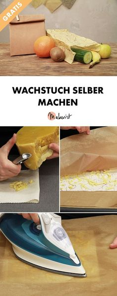 Wachstuch selber machen - kostenlose DIY-Anleitung via Makerist.de - List of the most creative DIY and Crafts Upcycled Crafts, Diy Crafts To Sell, Diy Crafts For Kids, Fabric Crafts, Sewing Crafts, Clothes Crafts, Diy Craft Projects, Diy Tutorial, Make It Yourself