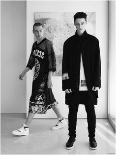 Ash Stymest + Yuri Pleskun Star in REVOLVEman Spring 2015 Catalogue