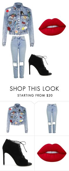 """""""no name"""" by athena420 ❤ liked on Polyvore featuring Alice + Olivia, Topshop, Yves Saint Laurent and Lime Crime"""