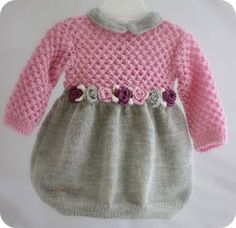 Kids Dress  4 row: All the loops knit with purl.    Repeat pattern from the 1st row