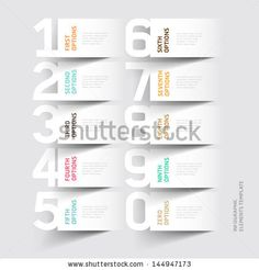 Abstract infographics number options template. Vector illustration. can be used for workflow layout, diagram, business step options, banner, web design - stock vector
